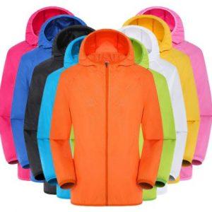 Men's Women Casual Jackets Plus Szie Candy Color Windproof Ultra-Light Rainproof Windbreaker Hooded Coat Jackets damen z0530