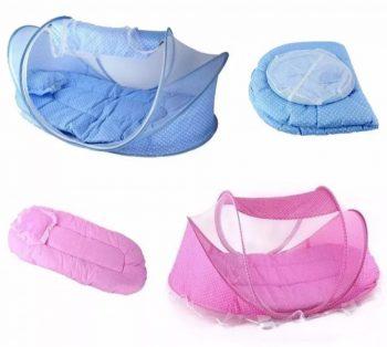 Krevet sa mrezicom protiv komaraca-srecna i zasticena beba!