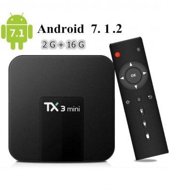 Android BOX smart tv 2GB Ram-16GB 4K ULTRA HD TX3