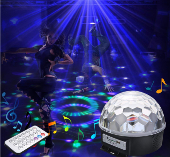 DISKO Kugla MP3 led USB daljinski DISKO