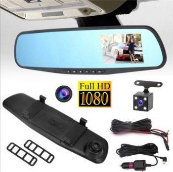 Retrovizor kamera full hd 1080p + rikverc kamera