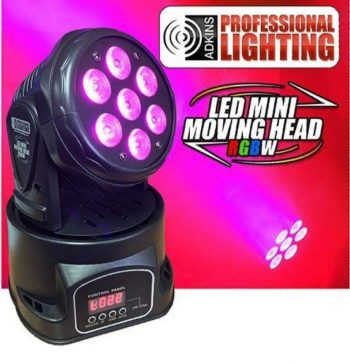 Led Roto Glava 7x10w mini led moving head Light