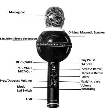 Bluetooth Karaoke Mikrofon WS-878-Novo!