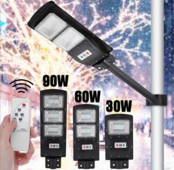 LED Reflektor Solarni 90W za stubnu montazu + Daljinski