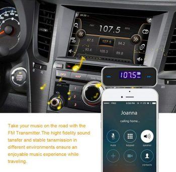 FM Transmiter Handsfree sa telefona 3.5mm aux na FM radio