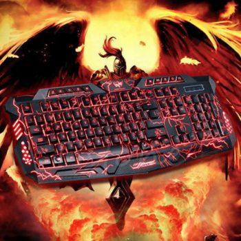 Gejmerska tastatura svetleca 3 Boje-Novo