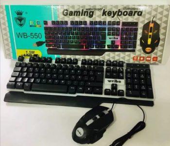 Weibo gaming mis i tastatura rgb vodootporna