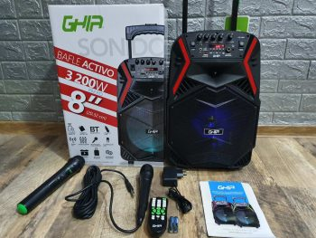 Veliki Bluetooth Zvucnik + 2 Mikrofona GHIA