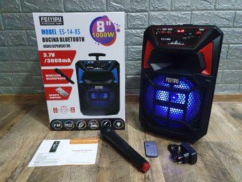 Veliki Karaoke Bluetooth Zvucnik + Bezicni Mikrofon
