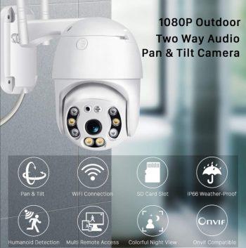 IP WiFi PTZ kamera spoljna 360 vodootporna 1080P dve antene