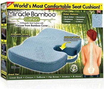 Jastuk za sedenje od memorijske pene prekrivac od bambusa