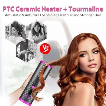 Bežični rotirajući keramički uvijač kose
